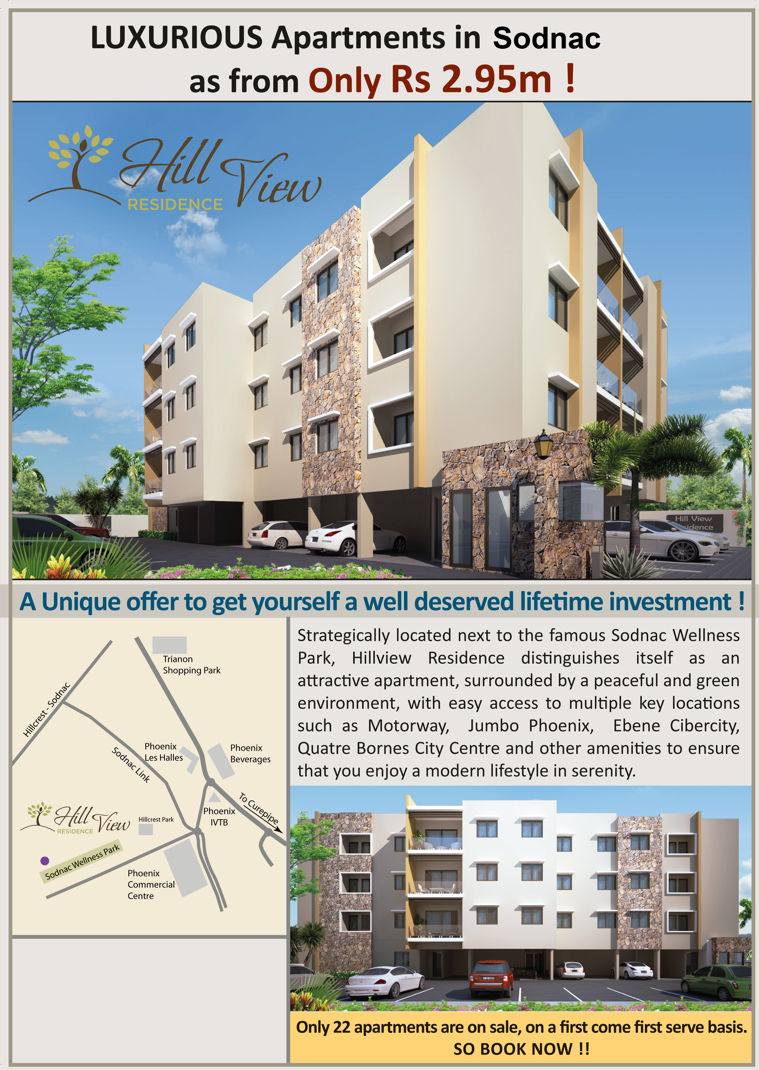 Luxurious Apartments For Sale U2013 Hill View Residence U2013 Sodnac Wellness Park  U2013 SAPA REAL ESTATE MAURITIUS